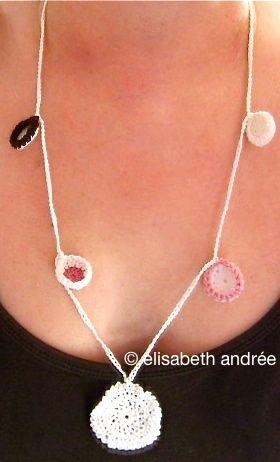 pendant and little cups necklace - elisabeth andrée