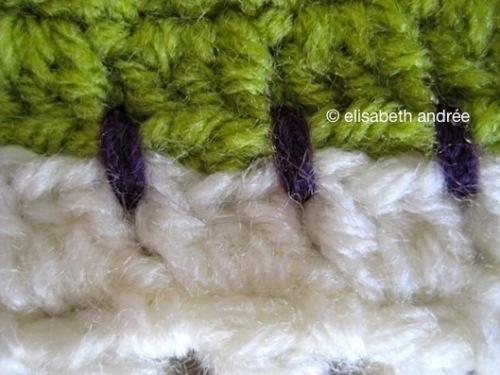 detail of the festive blanket by elisabeth andrée