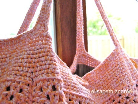 handles of apricot bag by elisabeth andrée