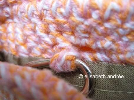 detail of apricot bag by elisabeth andrée