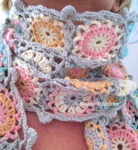 candy color scarf by elisabeth andrée