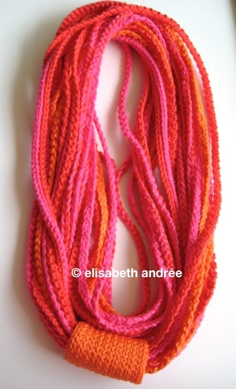 crochet strings-knot-necklace
