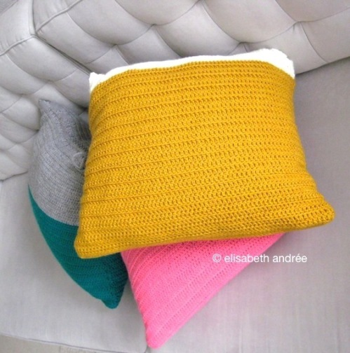 very easy cushion covers with a shoe lace closure by elisabeth andrée