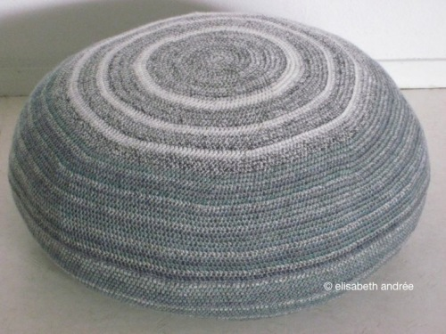 gray pouf by elisabeth andree
