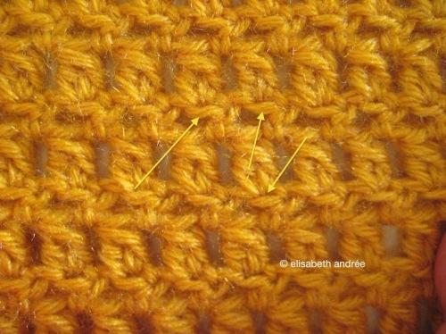 stitch pattern of the blankets - elisabeth andrée