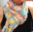 candy color scarf