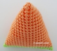 crochet tiny pyramid button