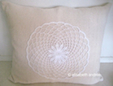 floorcushion with doily