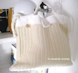 winter woolly white bag
