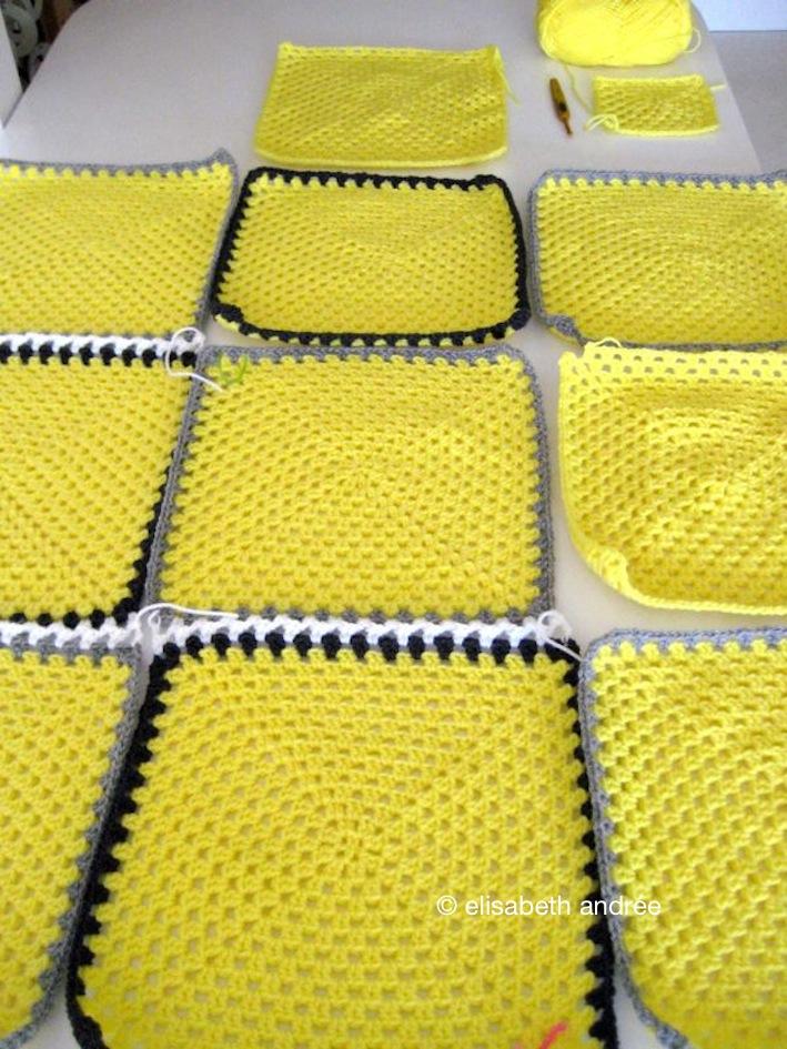 yellow picnic blanket