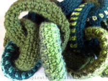 chain link crochet scarf
