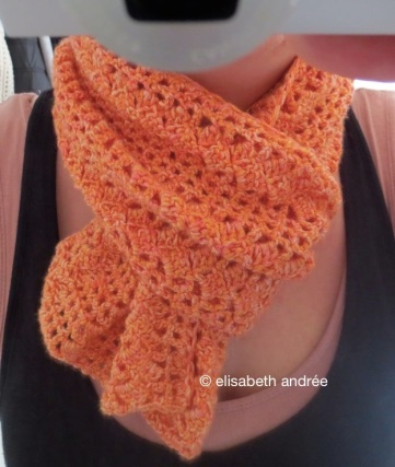 filet crochet scarf