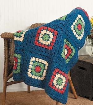 free pattern on lionbrand: great lengths afghan