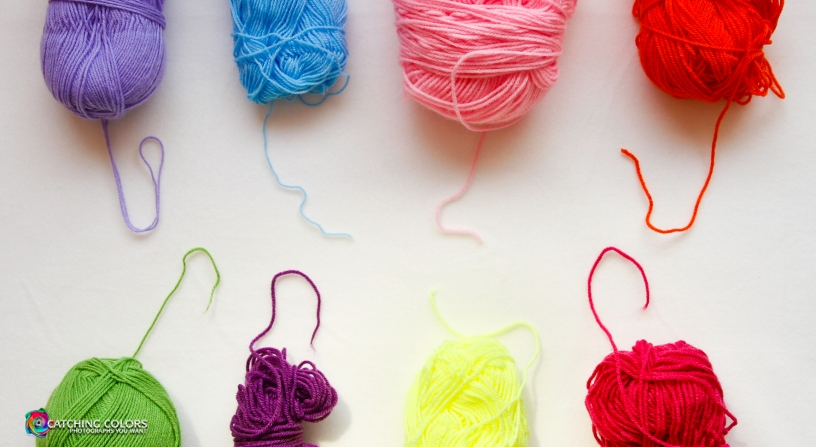 a look of yarn by catching colors