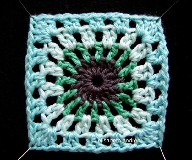 crochet square by elisabeth andrée