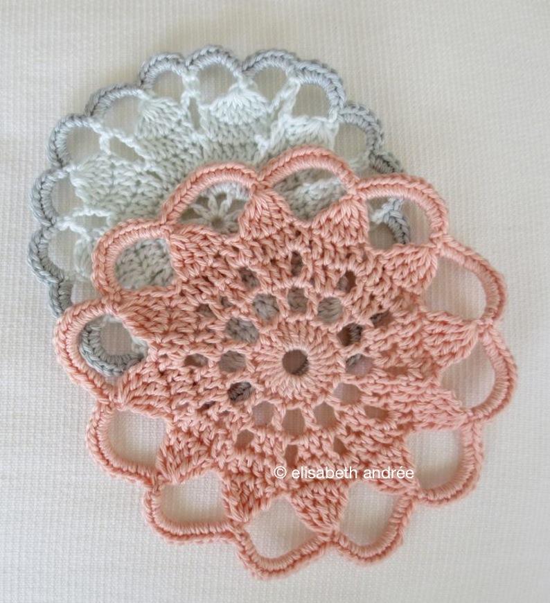 vintage crochet coasters by elisabeth andrée