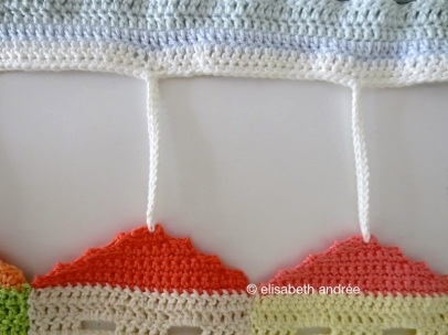 crochet burano houses details