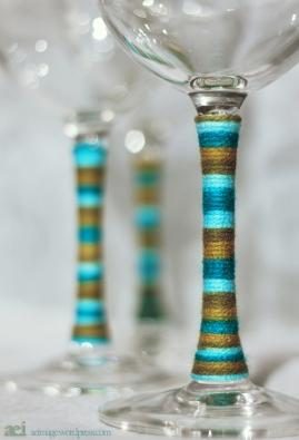 """yarn wraps glasses"""