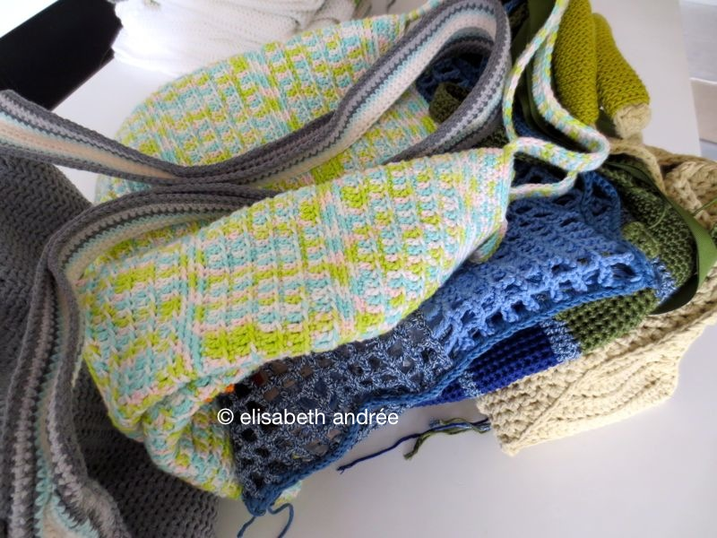 5 crochet bags in the make