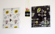 the prints are fabric designs by Lucienne Day, from the book V&A Pattern The Fifties