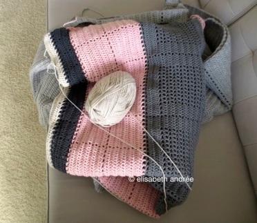 crochet bedspread in the works