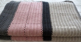 crochet blocks and stripes