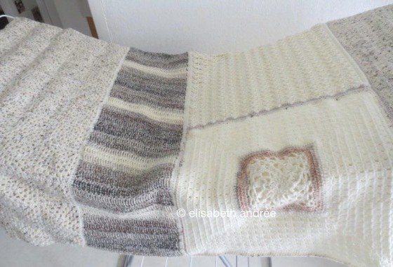 melange blanket washed and drying