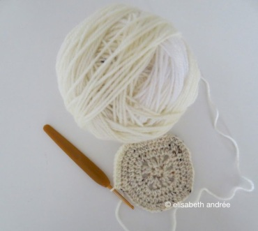 a snowball of yarn for a small project