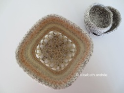 crochet container inside