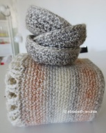crochet container and bowls