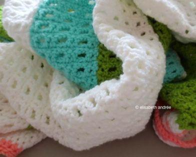 crochet blanket made of strips