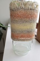 container drying on glass jar