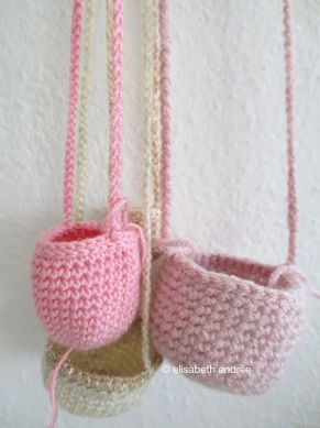tiny baskets in the making for christmas decoration