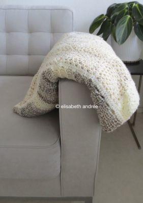 patchwork blanket folded