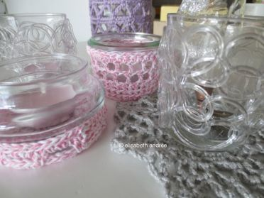 crochet covers and doily