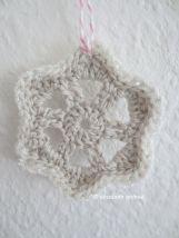 crochet ornament gray and white