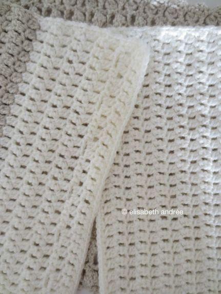 crochet cowl in the make
