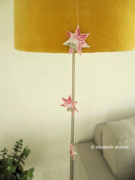 paper stars garland - still like the combination of pink and yellow