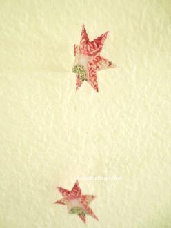 faux crochet paper stars