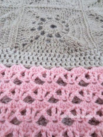 beige and pink blanket