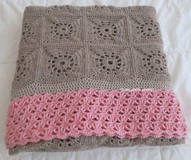 beige pink blanket folded