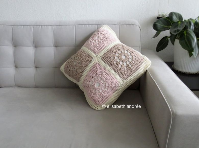 cushion cover made of 8 large squares
