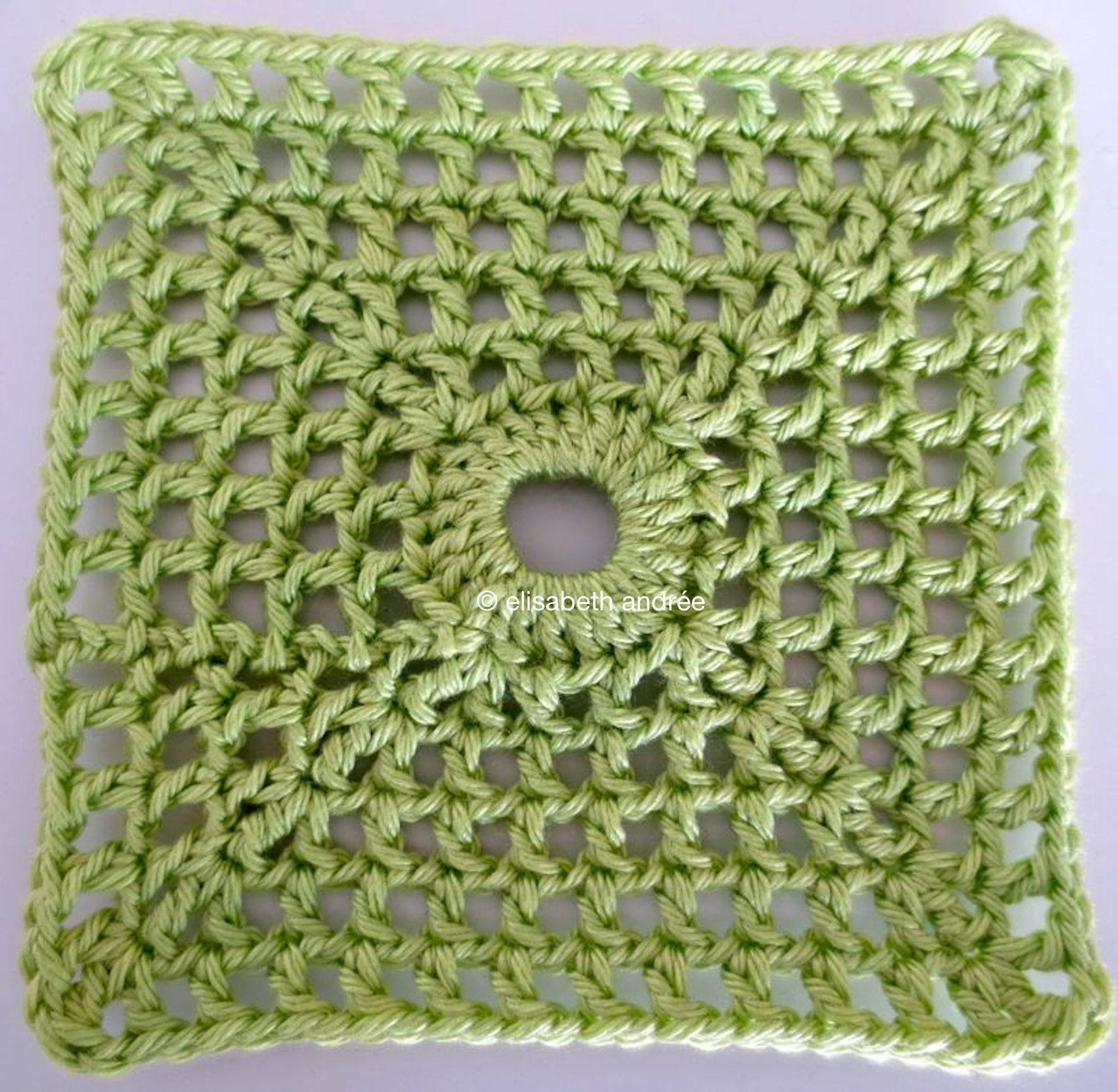 lacy with dot square crochet pattern   elisabeth andrée