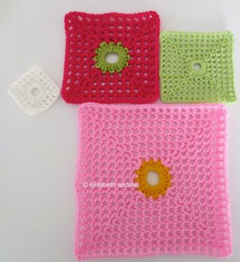 lacy with dot square multi colors