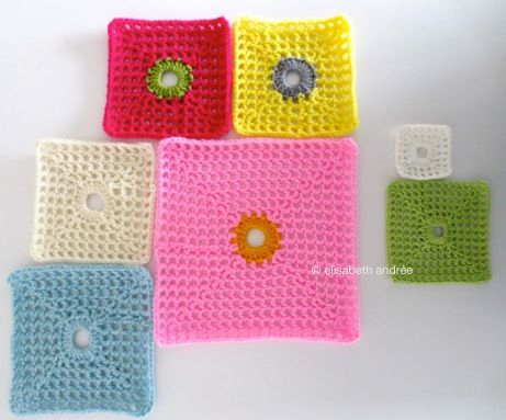 lacy with dot squares multi colors