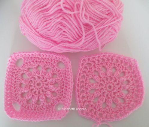 pink test squares