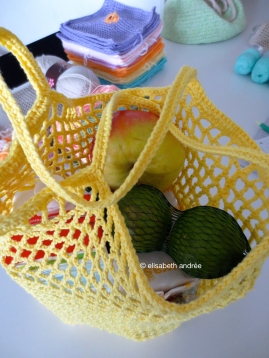 citron grocery bag with groceries