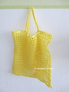 citron grocery bag by ellisabeth andrée