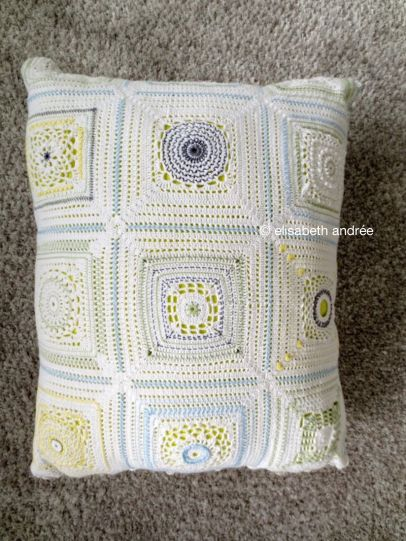 crochet with embroidery cushion cover