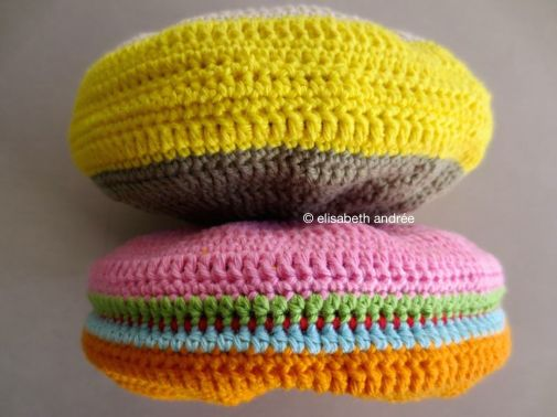 two doggie toys in bright colors